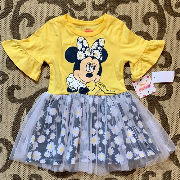 Yellow Daisy Disney Toddler Girls/' Minnie Mouse Tulle Dress